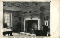 Elizabethan Fireplace in Cromwell Room, Lygon Arms Hotel