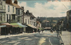 Looking Along High Street Postcard