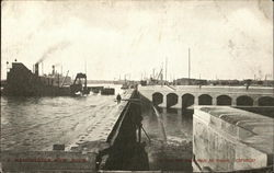 View of New Dock Postcard