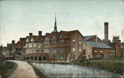 Royal Brine Baths From Rises Postcard