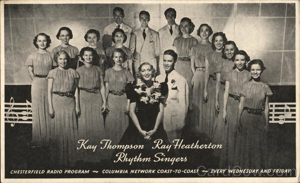 Kay Thompson & Ray Heatherton Rhythm Singers Performers & Groups