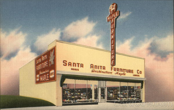 Invitation to Santa Anita Furniture Co 15th Semi-Annual Storewide Clearance Sale Pasadena California