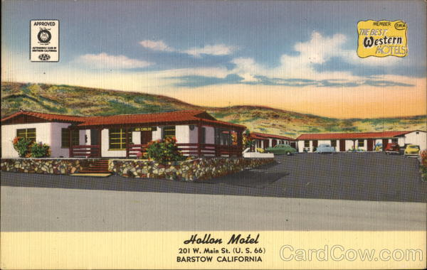 Hollon Motel - The Best Western Hotels Barstow California