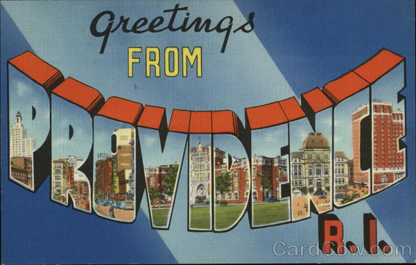 Greetings from Providence Rhode Island Large Letter