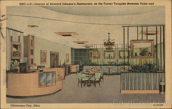 Interior of Howard Johnson's Restaurant Oklahoma City