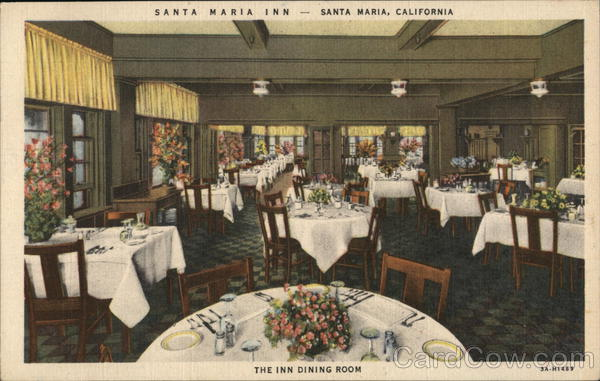 Santa Maria Inn, The Inn Dining Room California