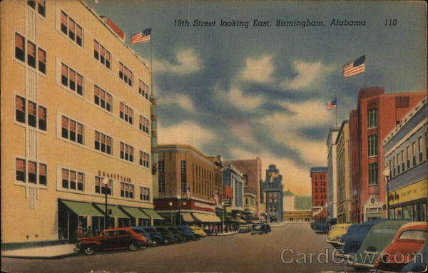19th Street Looking East Birmingham Alabama Technical Photograph Co.
