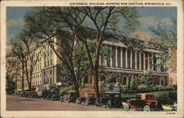 Centennial Building, showing new addition Springfield Illinois