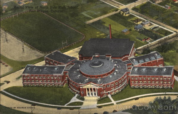 Aerial View of North Side High School Fort Wayne Indiana