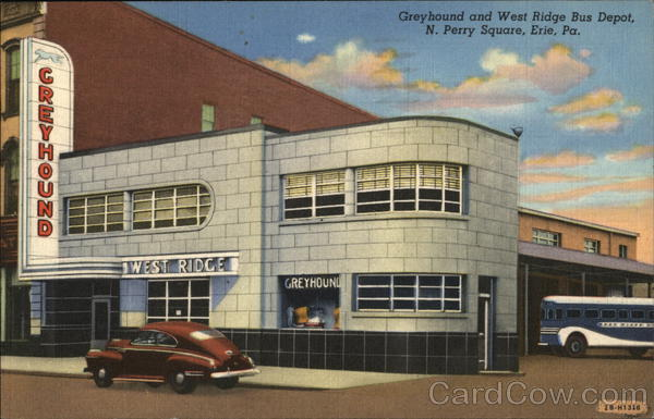 Greyhound and West Ridge Bus Depot Erie Pennsylvania