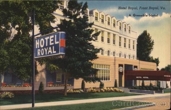 hotel royal a grenoble hotel front royal va postcard. Black Bedroom Furniture Sets. Home Design Ideas
