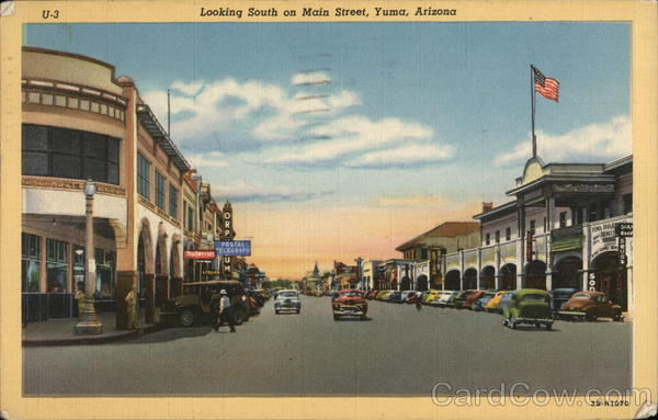 Looking South on Main Street Yuma Arizona