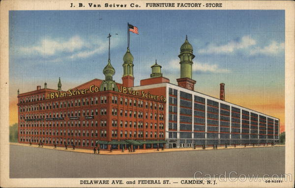 J. B. Van Sciver Co. Furniture Factory - Store Camden New Jersey