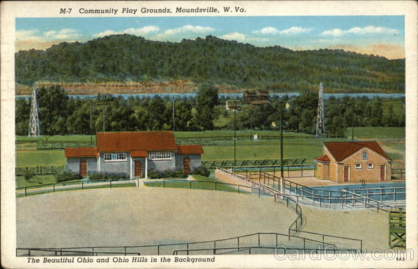 Community Play Grounds-The beautiful Ohio and Ohio Hills in the backgorund Moundsville West Virginia