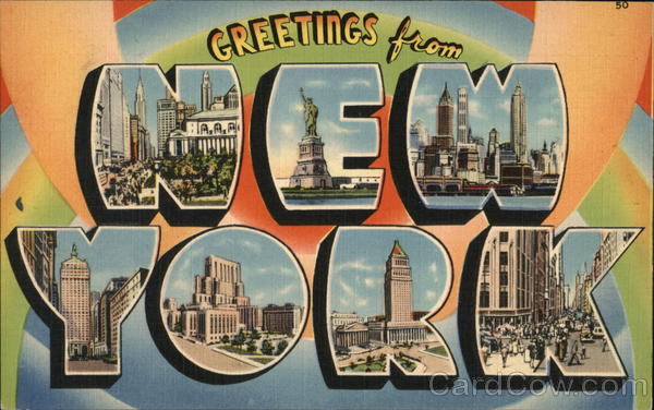 Greetings from new york postcard greetings from new york m4hsunfo