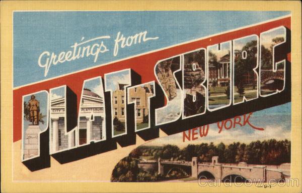 Greetings from plattsburg new york plattsburgh ny postcard greetings from plattsburg new york m4hsunfo