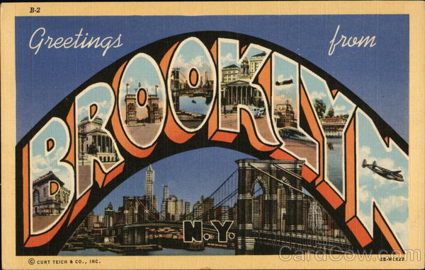Greetings from brooklyn ny new york postcard m4hsunfo