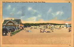 Bath House and Beach at Craigville Beach