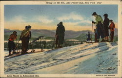 Group on Ski Hill, Lake Placid Club