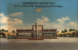 Henderson's Motor Villa and Restaurant U.S. No. 1, 391 and 178