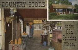 Country Store at the Old Spinning Wheel Postcard