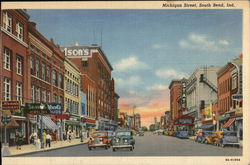 Michigan Street Postcard