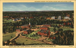 Aeroplane View, Johns Hopkins University, Homewood
