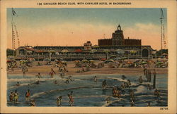 Cavalier Beach Club with Cavalier Hotel in Background