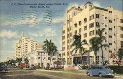 Fashionable Hotels Along Collins Ave.