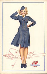 TWA Transcontinental Stewardess
