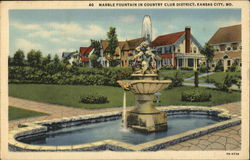 Marble Fountain in Country Club District