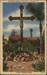 Cross in Mission Garden, Founded 1771