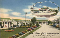 Bob's Motor Court and Restaurant Postcard