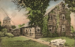 John Howard Payne's Home Sweet Home and The Old Windmill, East Hampton Postcard