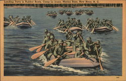 Landing Party in Rubber Boats, Camp Le Jeune, Marine Base