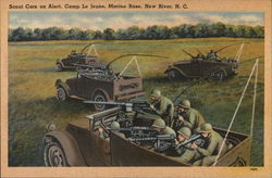 Scout Cars on Alert, Camp Le Jeune Marine Base