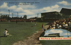 Baseball Spring Training, Milwaukee Braves in Action