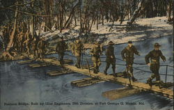 Pontoon Bridge Built by 121st Engineers
