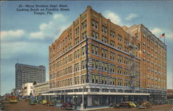 Maas Bothers Dept. Store, looking south on Franklin Street