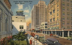 Flagler Street, looking west, Miami, Florida