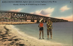 Bahia Honda Bridge, highest span on overseas highway to Key West