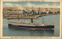 "P&O Twin Screw Passenger Steamship ""Cuba"""