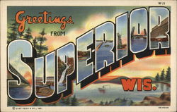 Greetings from Superior, Wisconsin Postcard