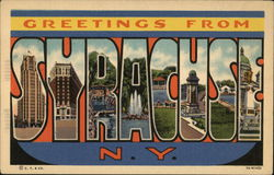 Greetings from Syracuse, New York