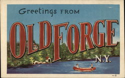 Greetings From Old Forge N.Y.