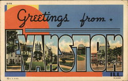 Greetings from Evanston Postcard