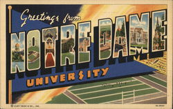 Greetings from Notre Dame University Postcard