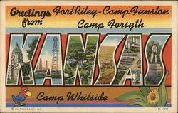 Greetings From Fort Riley - Camp Funston - Camp Forsyth - Camp Whitside