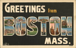 Greetings from Boston, Massachusetts