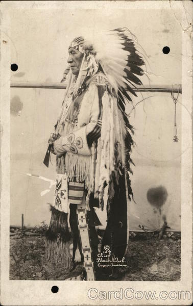 Chief Plain Owl - Crow Indian Native Americana
